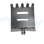 SELECT-TRAC ANGLED OUT 15° BLADE W/TEETH TITANIUM  45X50MM