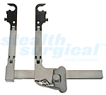 STEALTH SURGICAL INSTRUMENTS SIDE LOADING TRANSVERESE RETRACTOR W/DOUBLE HINGE, 120MM RACK