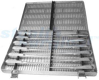 CURETTE STERILIZATION TRAY